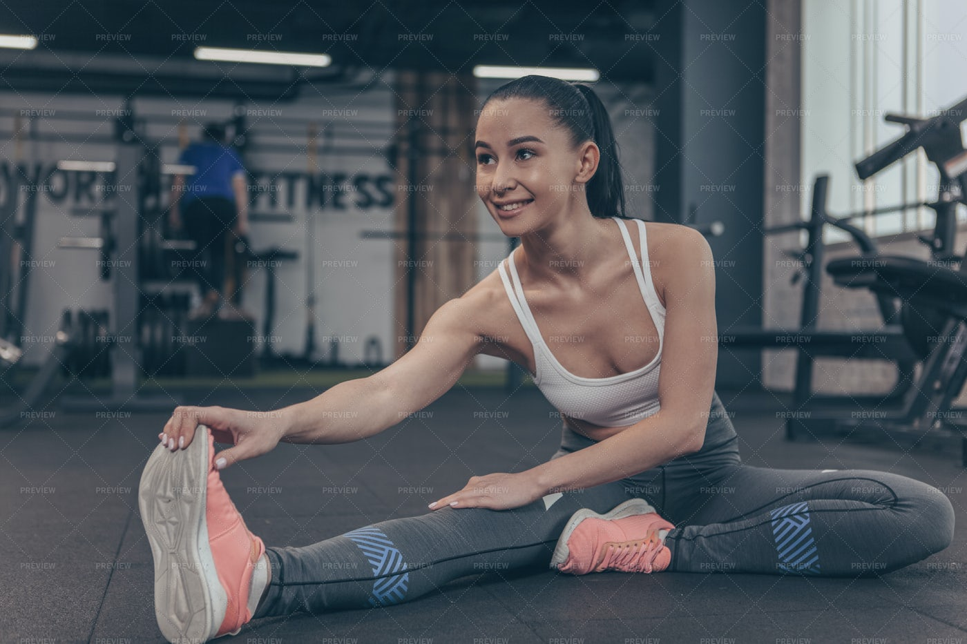 Flexible Woman At Gym: Stock Photos