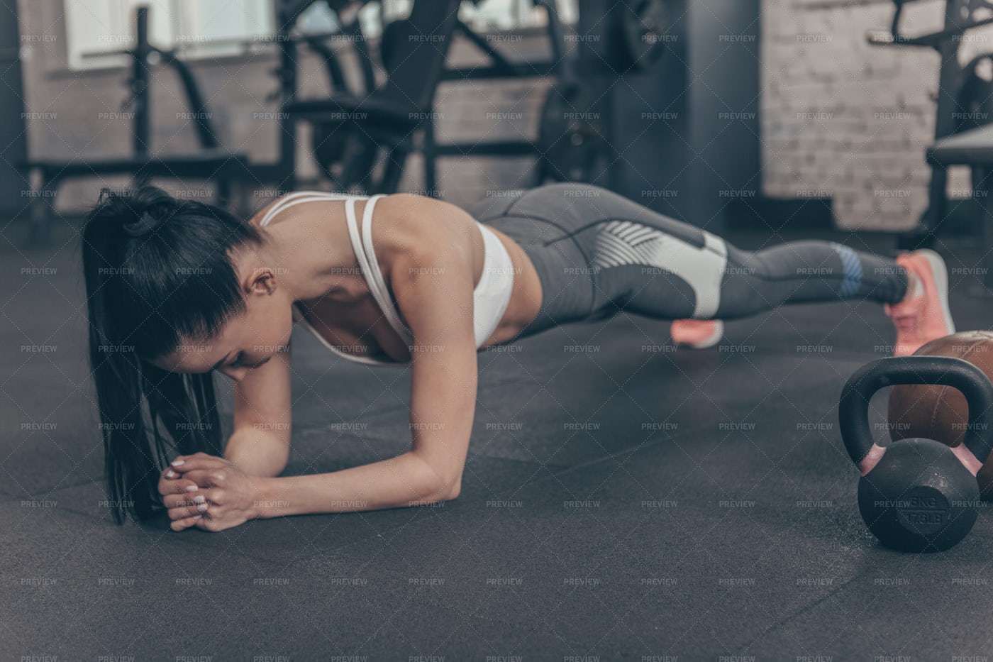 Planking At The Gym: Stock Photos