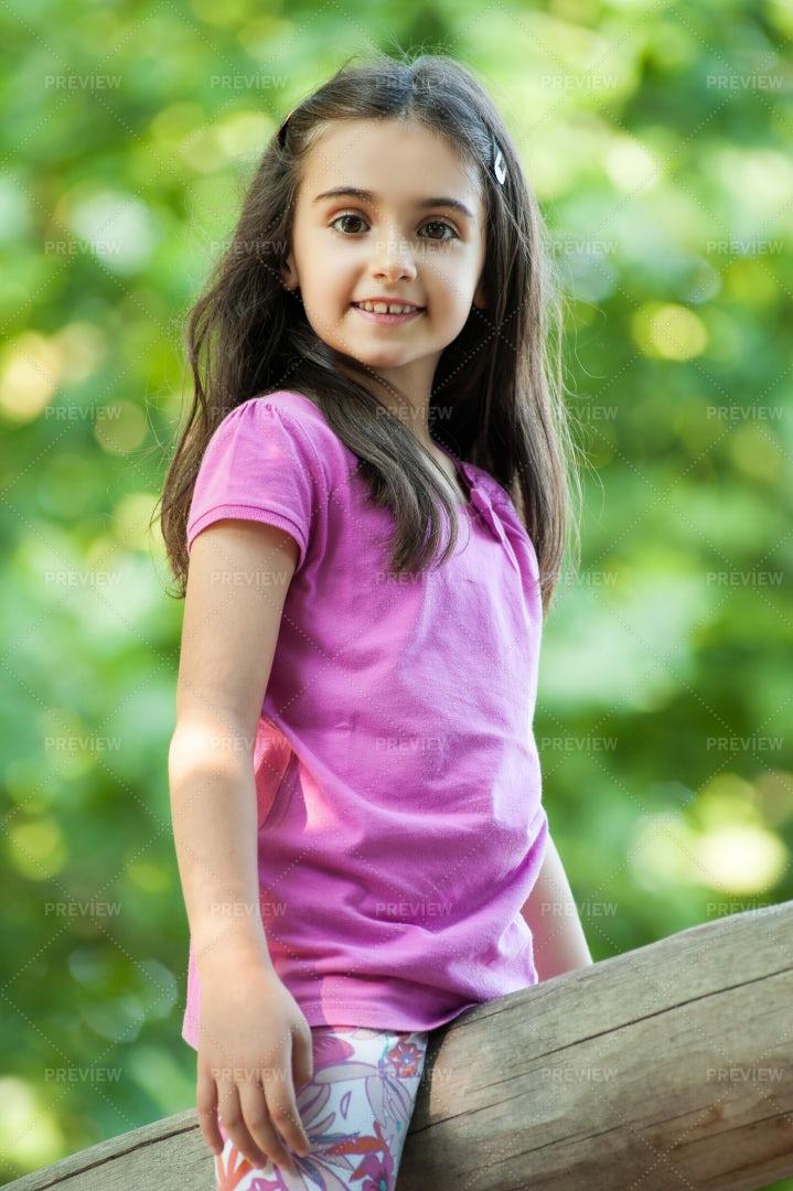Girl Enjoying The Outdoors: Stock Photos