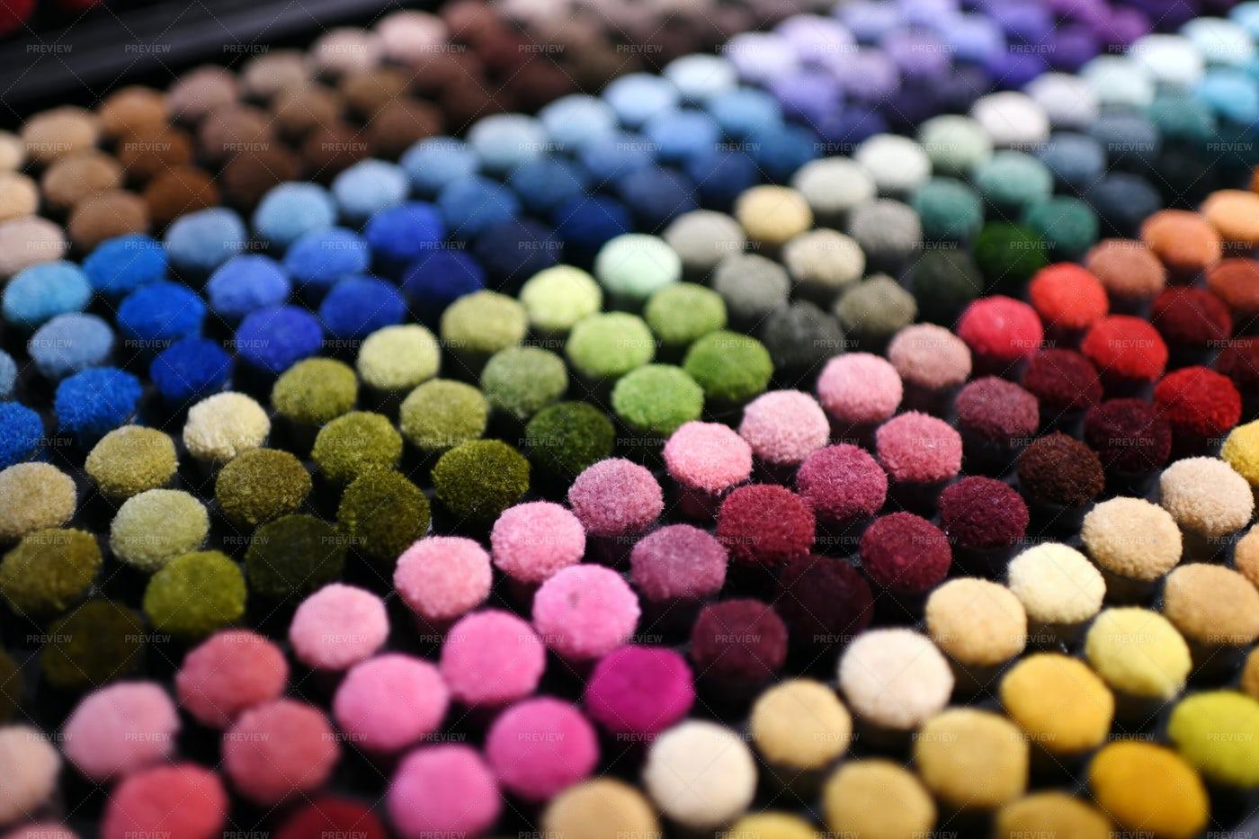 Colorful Moquette Textile: Stock Photos