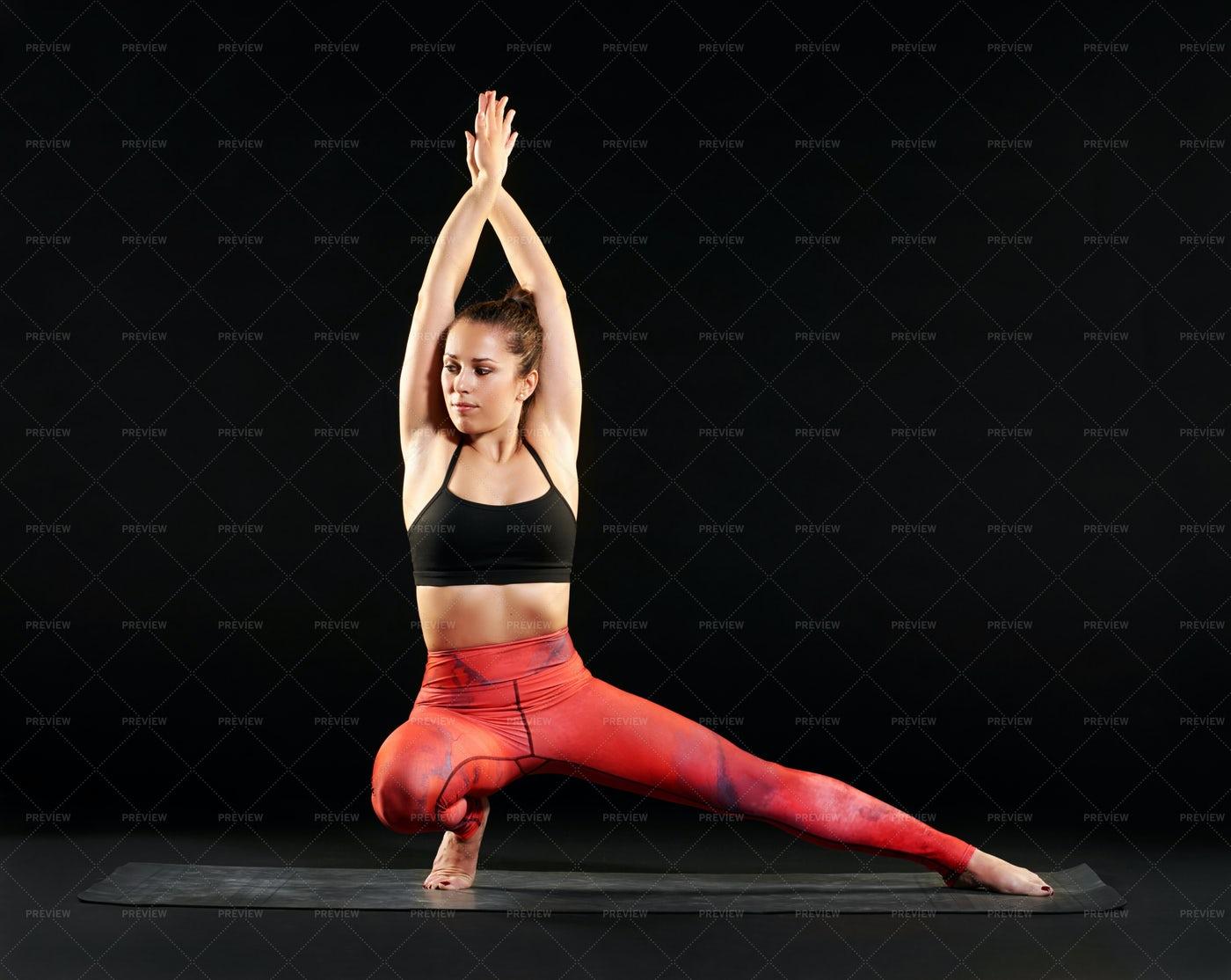 Yoga Side Lunge Pose: Stock Photos
