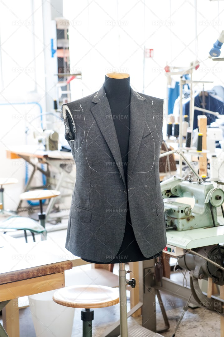 Working On A Jacket: Stock Photos