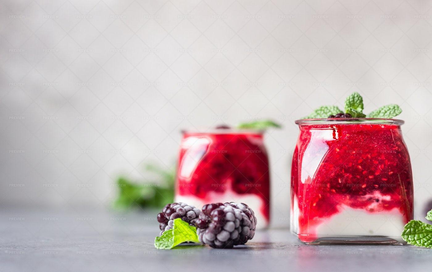 Berry And Yogurt Smoothie: Stock Photos