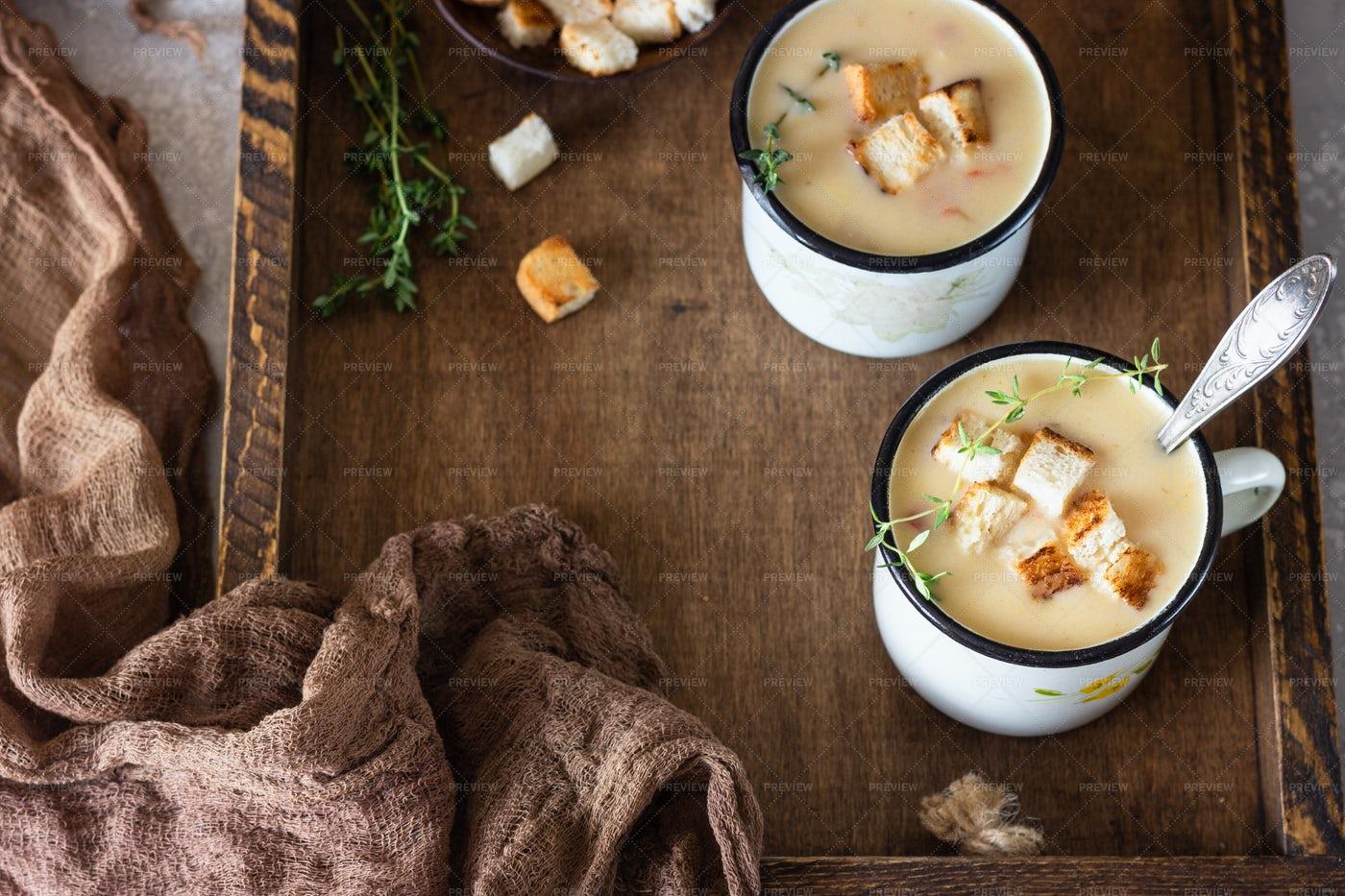 Homemade Chowder Soup: Stock Photos