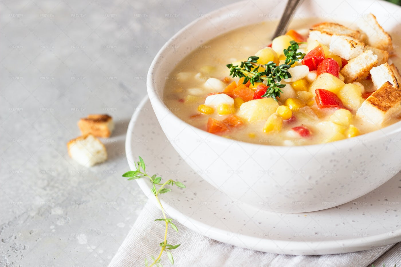 Corn Chowder Soup: Stock Photos