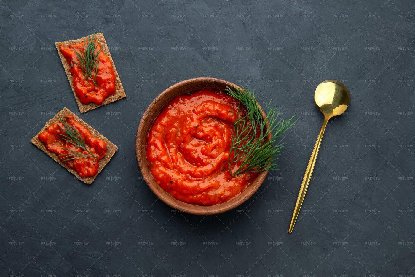 Baked Pepper Ajvar: Stock Photos