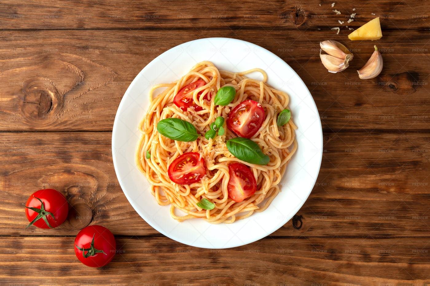 Spaghetti Plate: Stock Photos