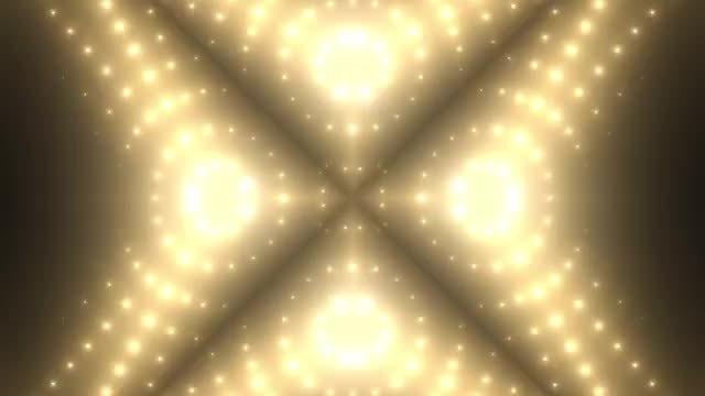 Golden VJ Background: Stock Motion Graphics