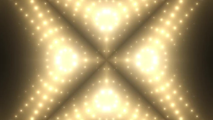 Golden VJ Background: Motion Graphics