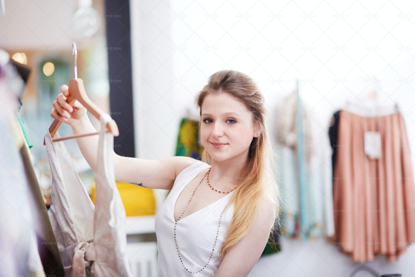 Browsing For A New Dress: Stock Photos
