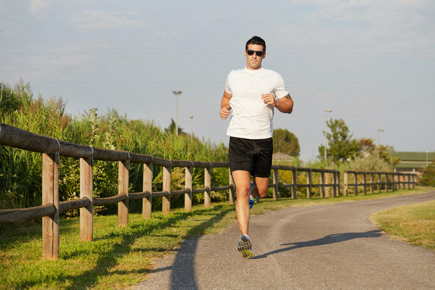 Training In Summer Day: Stock Photos