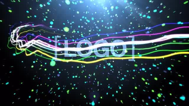 light streak logo free after effects template