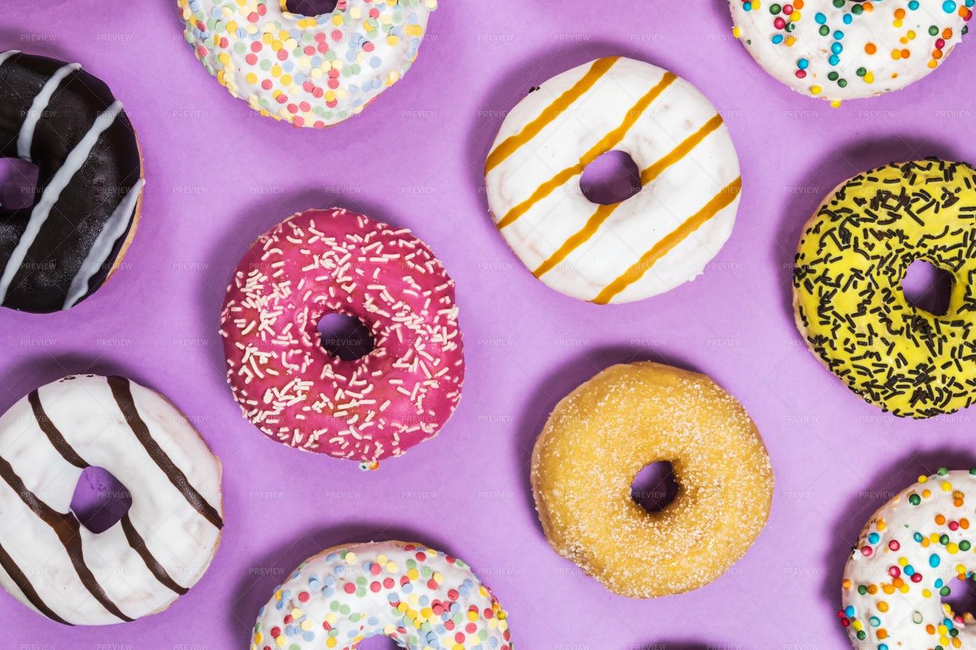 Variety Of Donuts: Stock Photos
