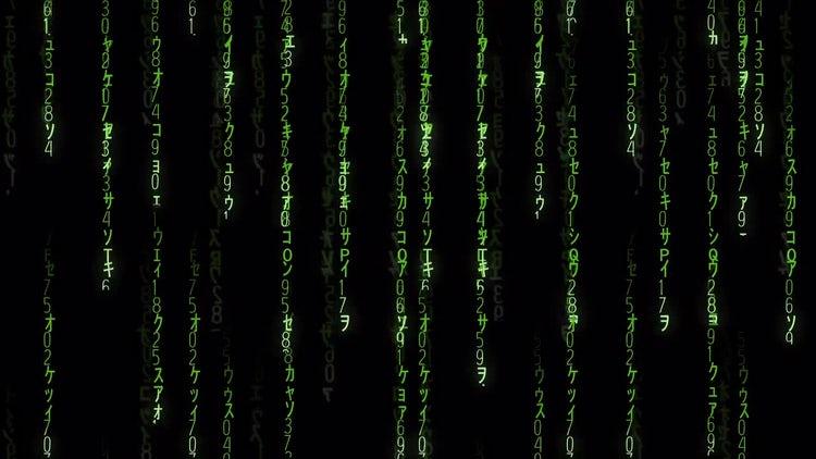 Falling Matrix Code: Motion Graphics