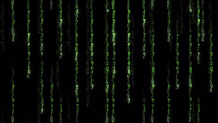Falling Matrix Code: Stock Motion Graphics