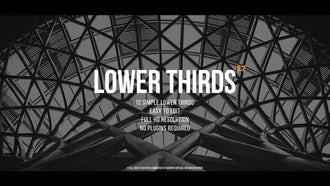 Lower Thirds v.2: Premiere Pro Templates