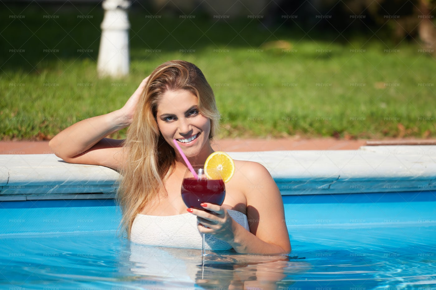 Happy Girl On Vacation: Stock Photos