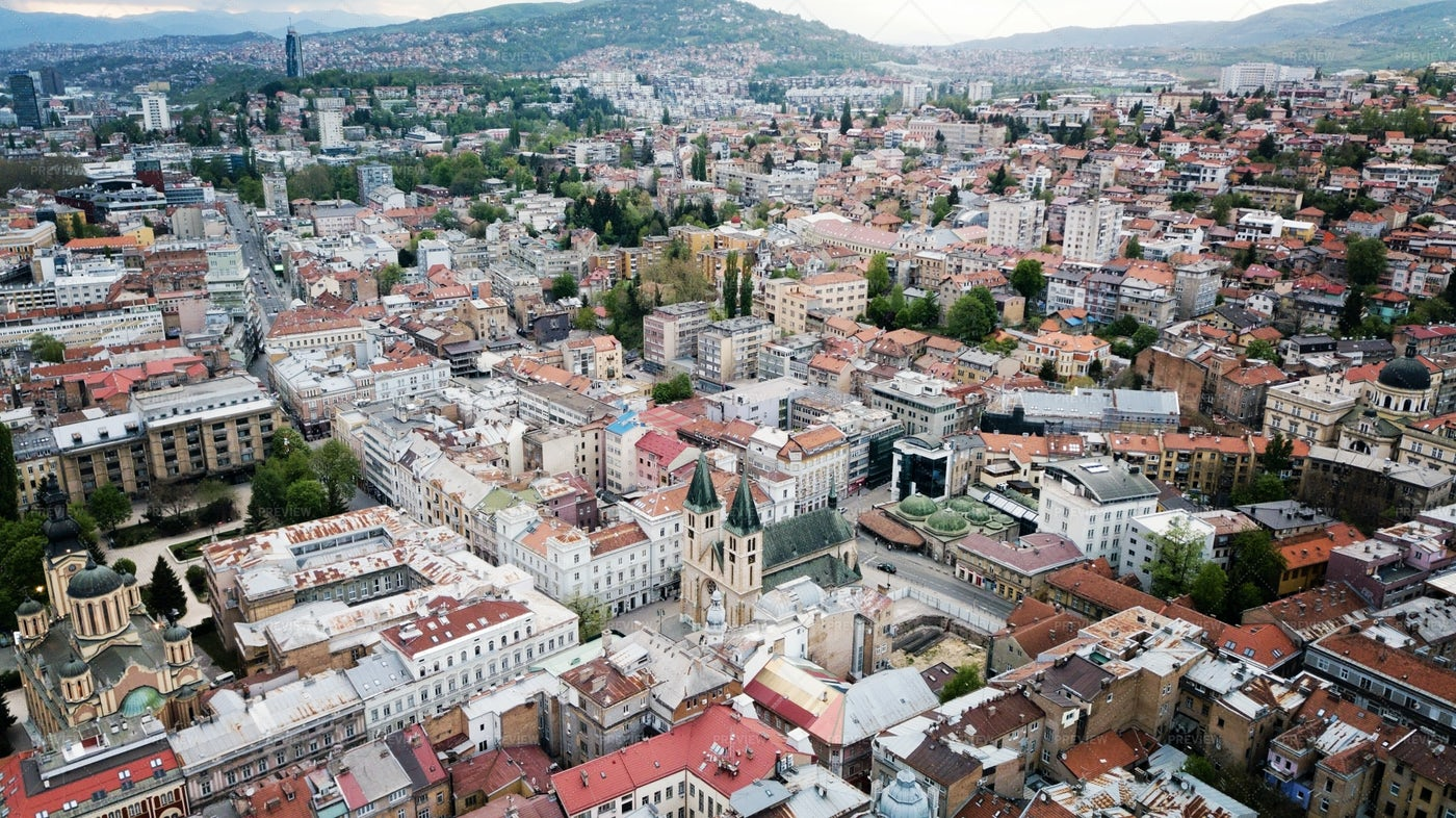Sarajevo Cityscape: Stock Photos