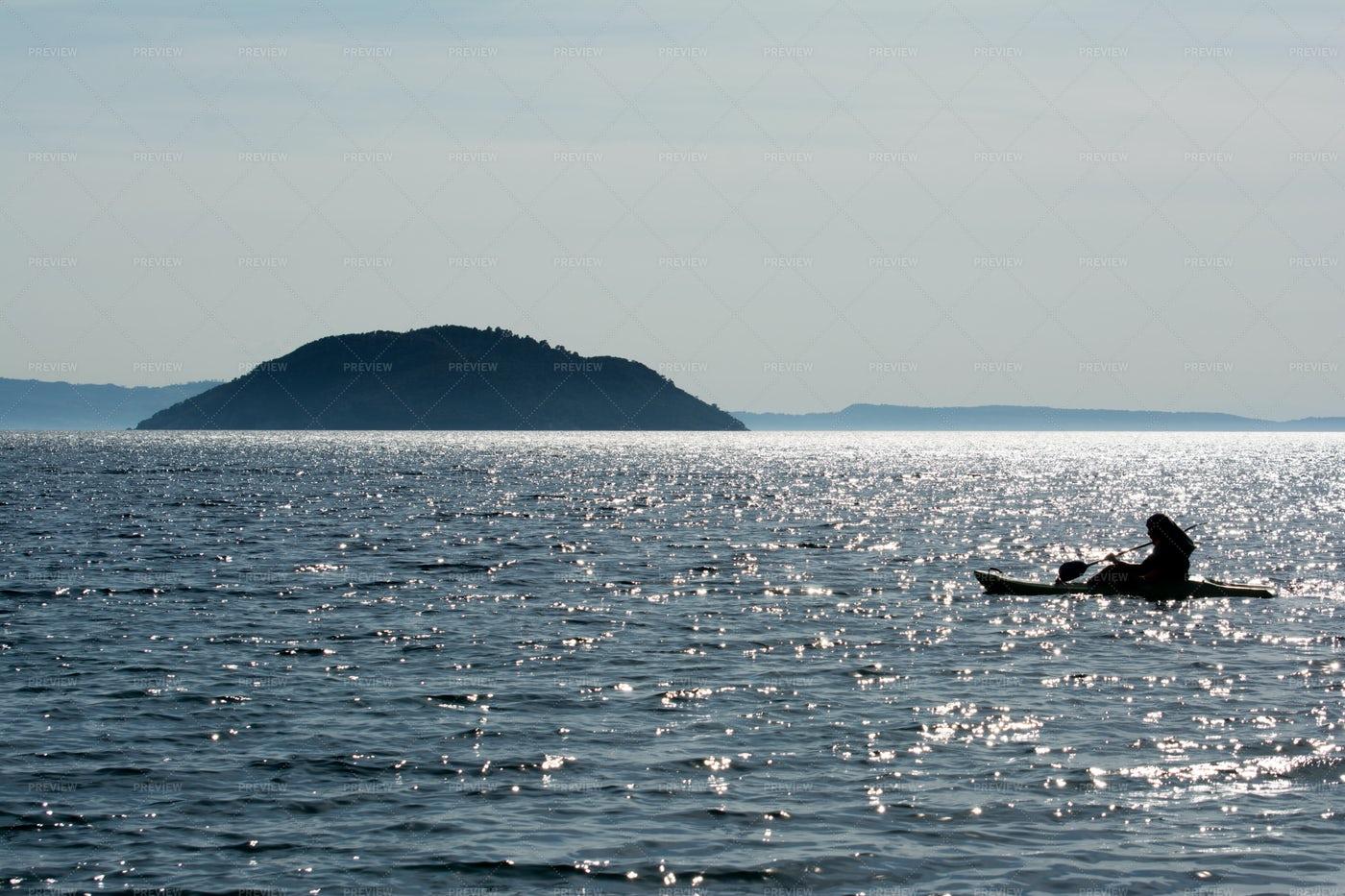 Kayaking In Greece: Stock Photos