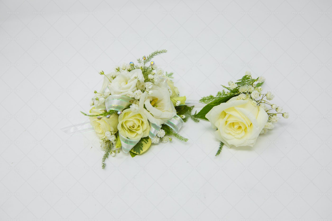 Boutonniere And Corsage: Stock Photos