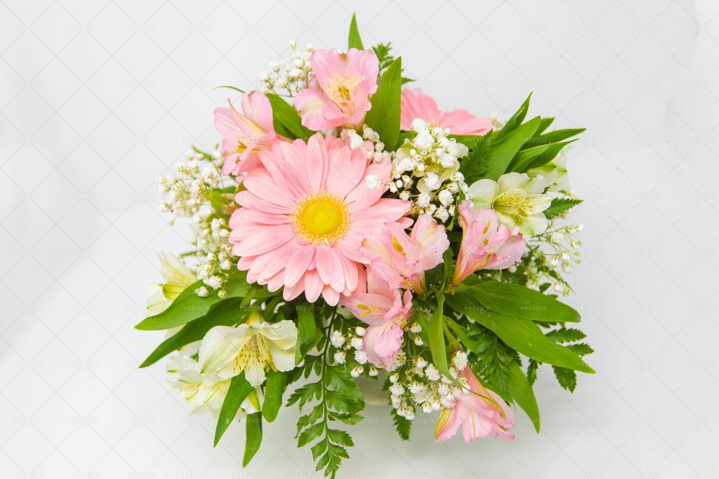 Pink Birthday Flowers: Stock Photos