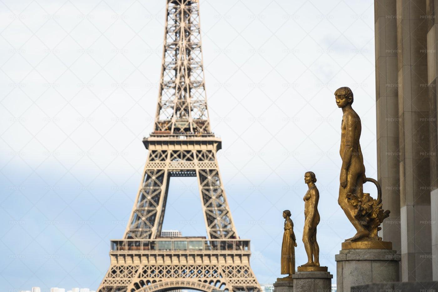 Eifel Tower From Trocadero: Stock Photos