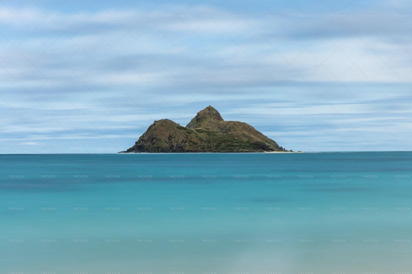 Tropical Windswept Island: Stock Photos