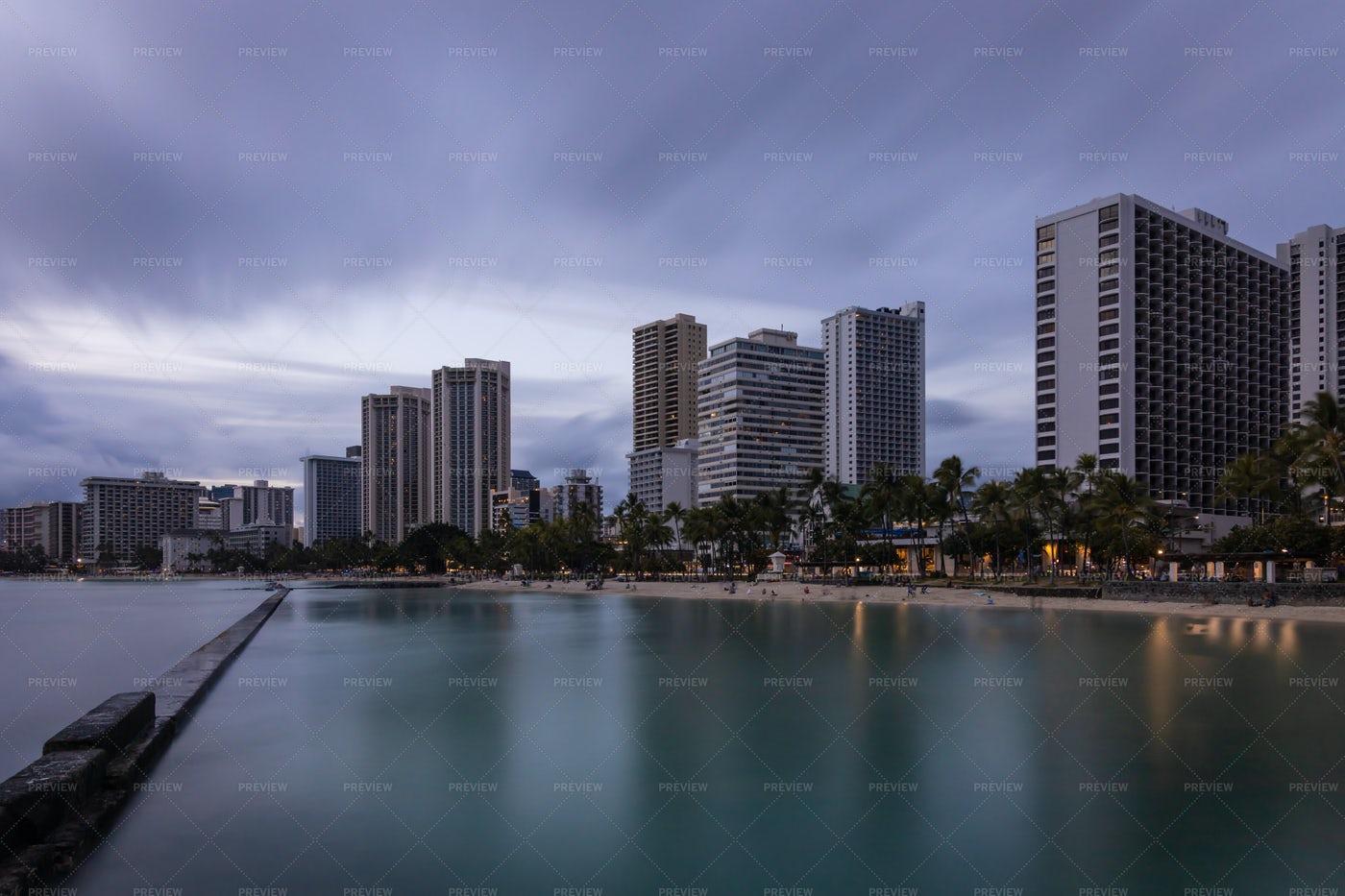 Skies Over Honolulu: Stock Photos