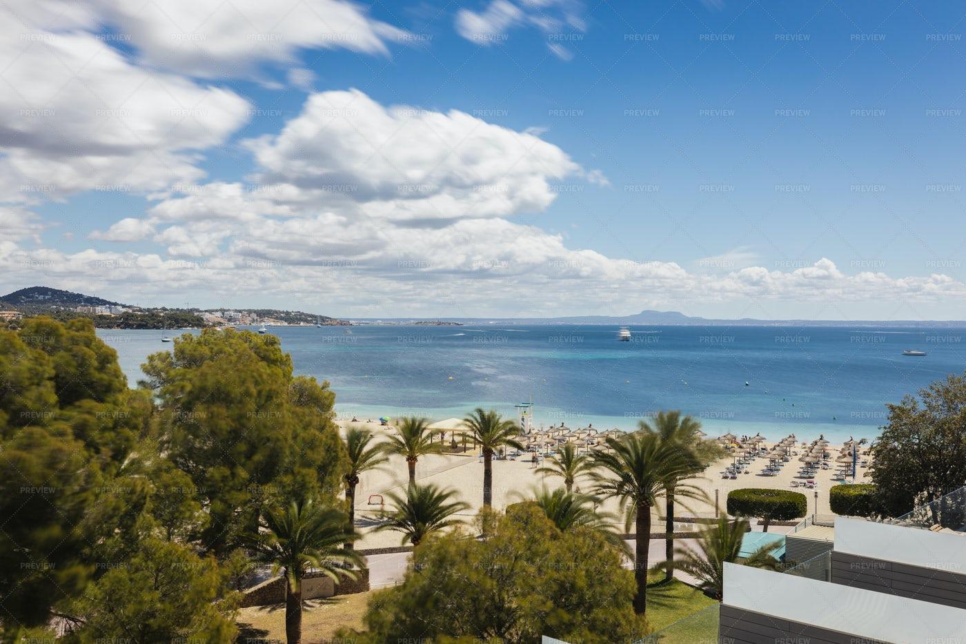 Palma De Mallorca Beach: Stock Photos
