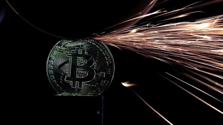 Grinding Bitcoin: Stock Video