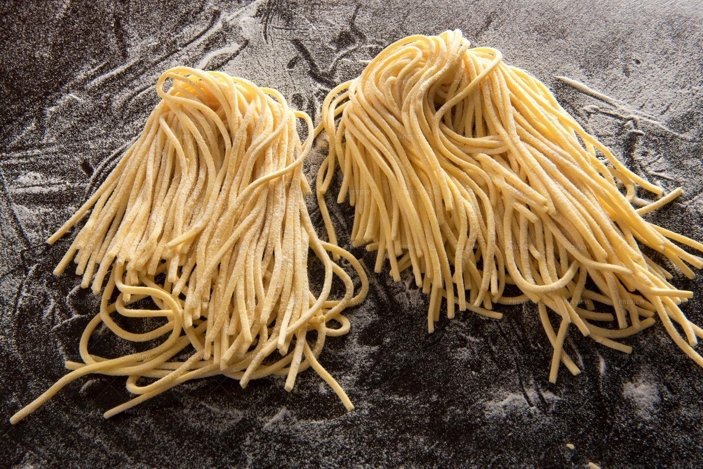 Two Bundles Of Spaghetti: Stock Photos