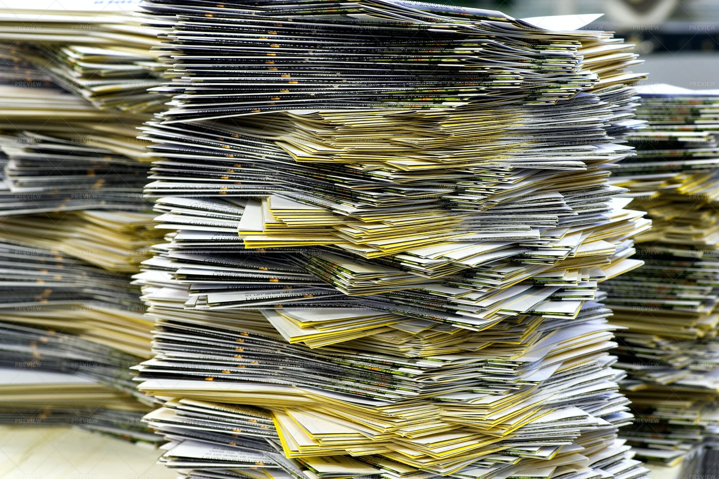 Piles Of Mailing Sheets: Stock Photos