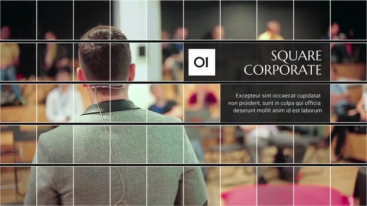 Square Corporate Premiere: Premiere Pro Templates
