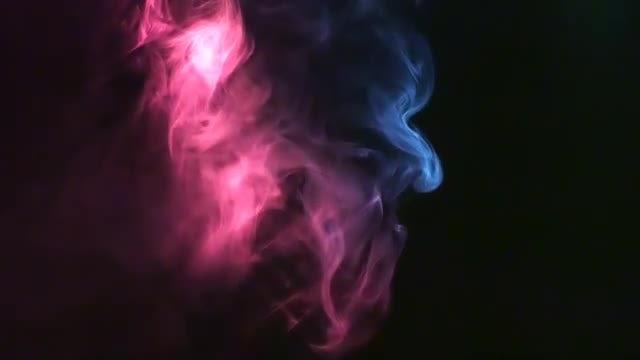 Smoke Multicolored Footage: Stock Video