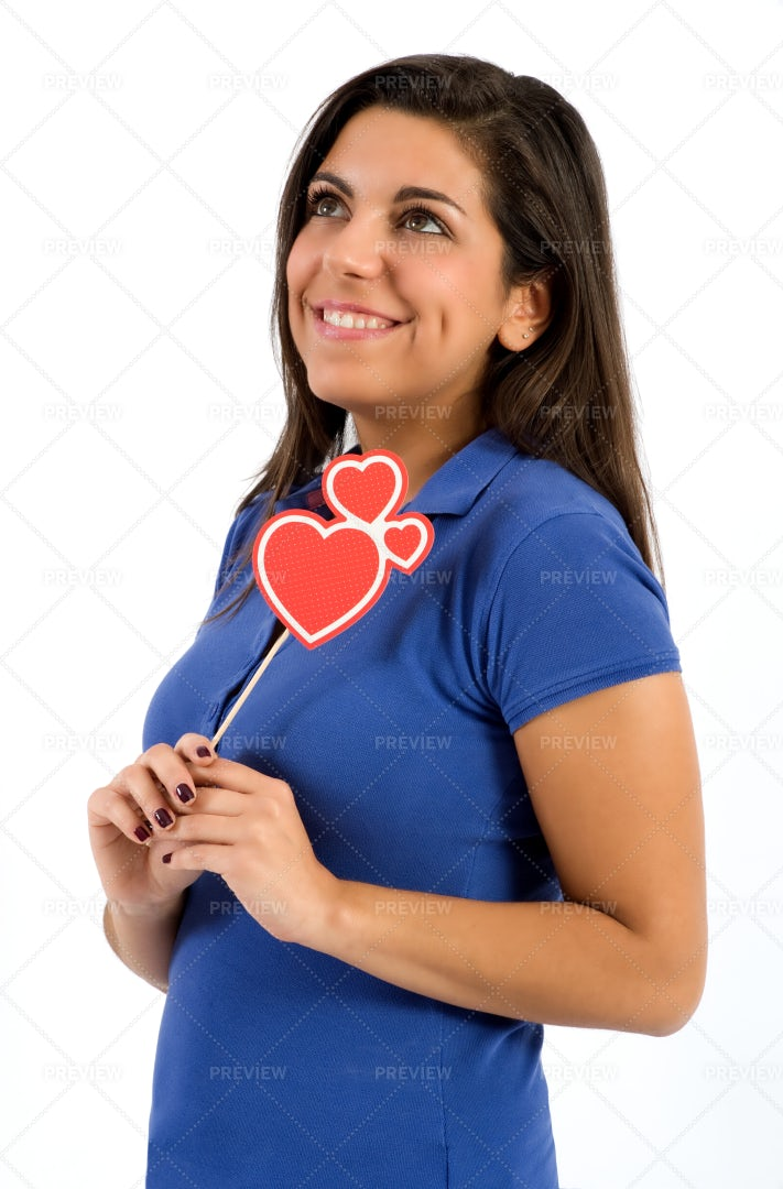 Woman Dreaming Of Love: Stock Photos