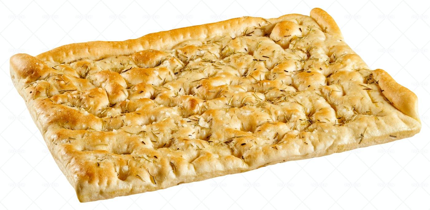 Italian Focaccia Bread: Stock Photos