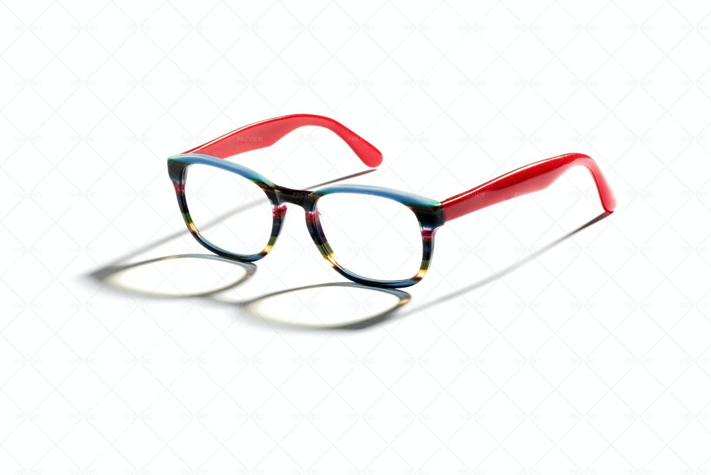 Stylish Multicolored Eyeglasses: Stock Photos