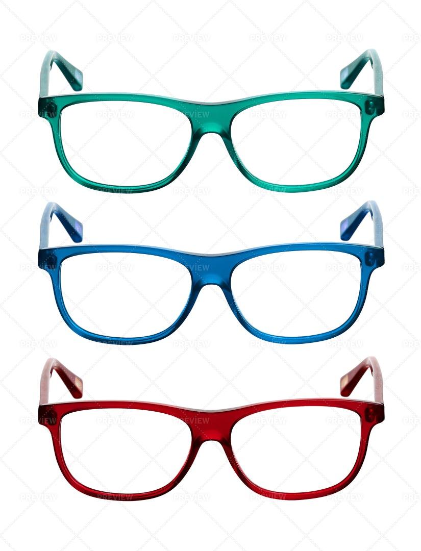 Three Pairs Of Glasses: Stock Photos
