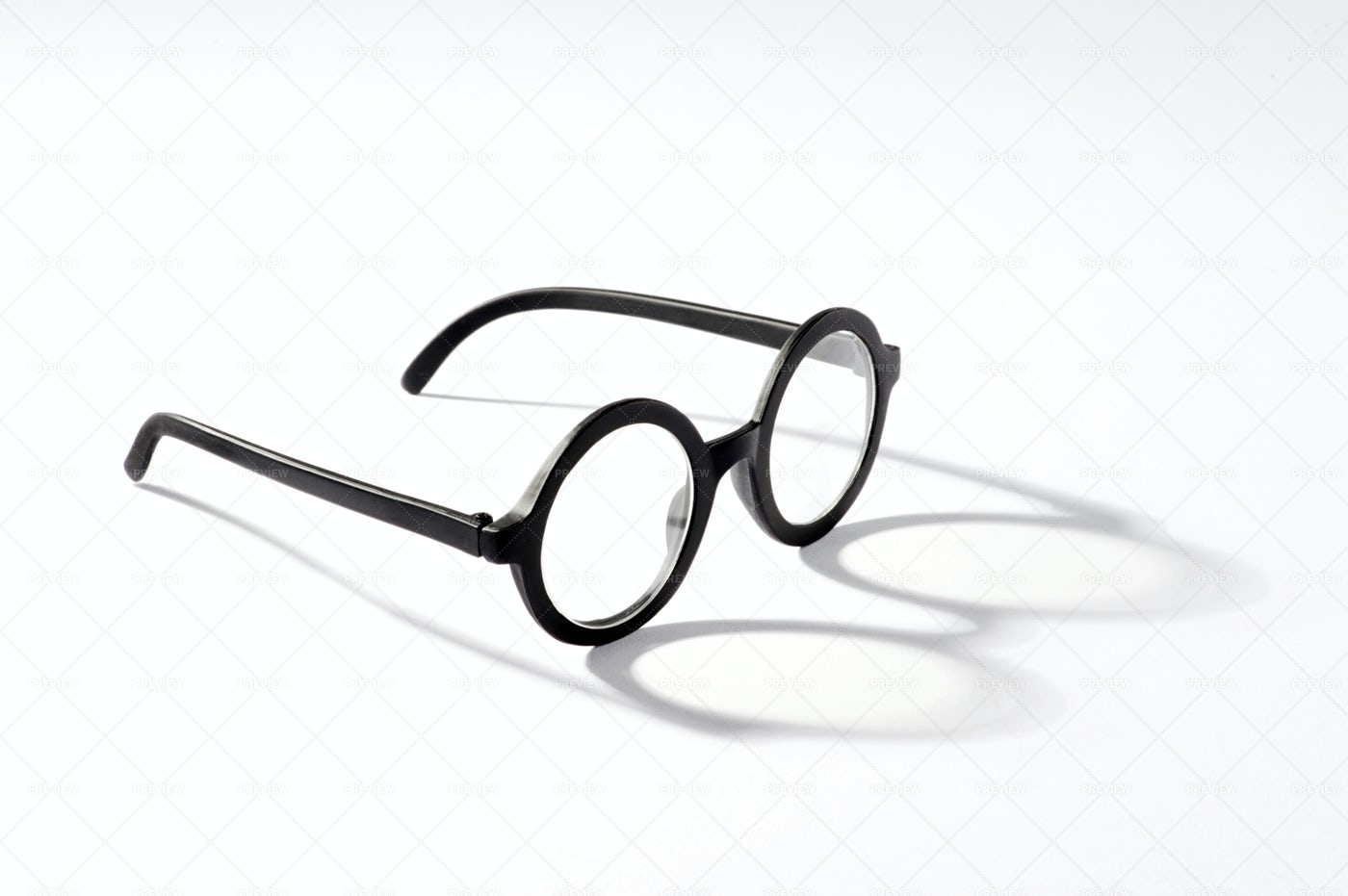 Round Glasses With Shadow: Stock Photos