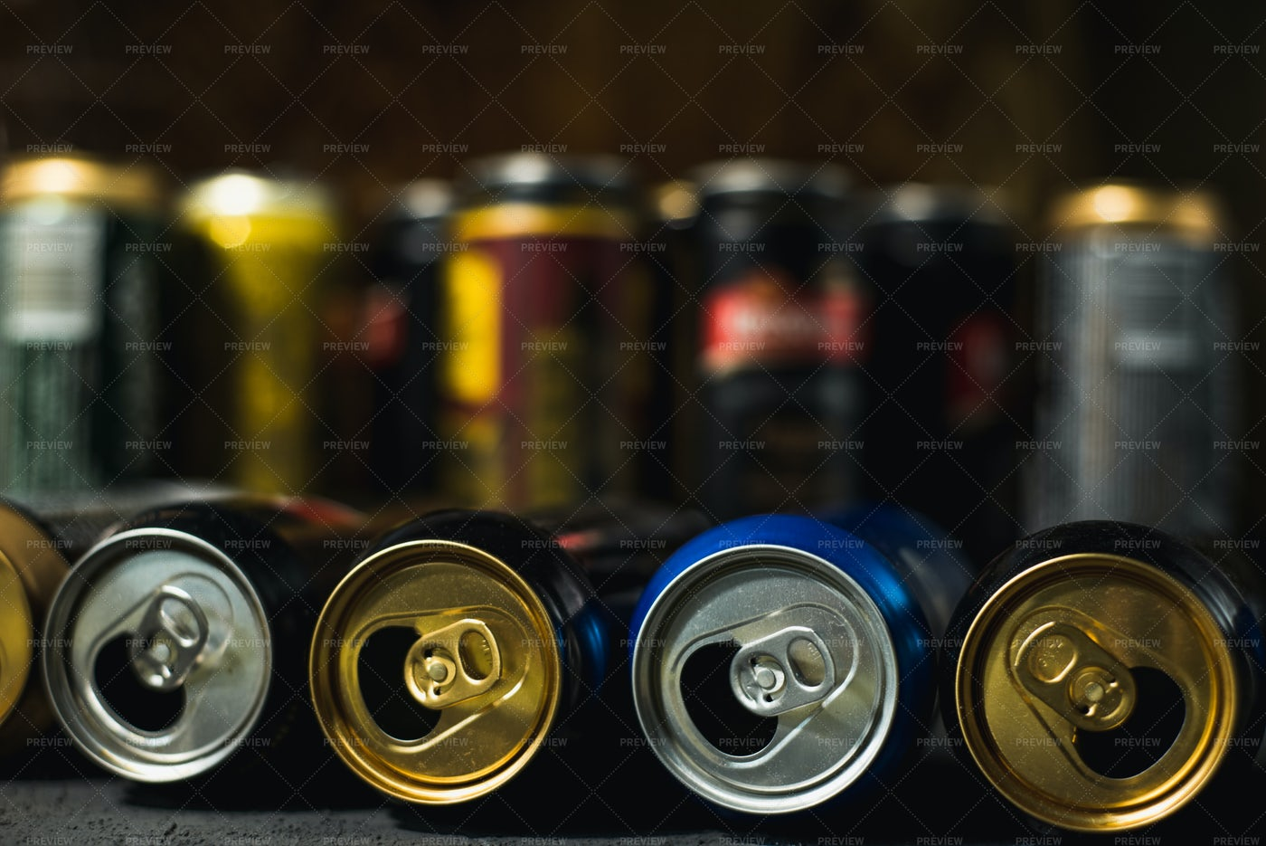 Empty Beer Cans: Stock Photos