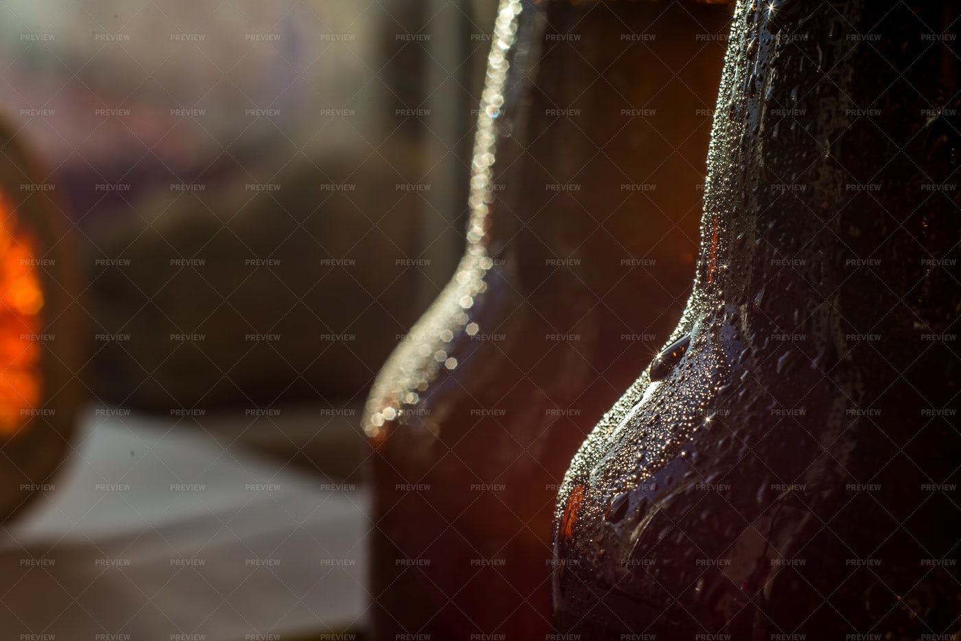 Cold Beer Bottle: Stock Photos