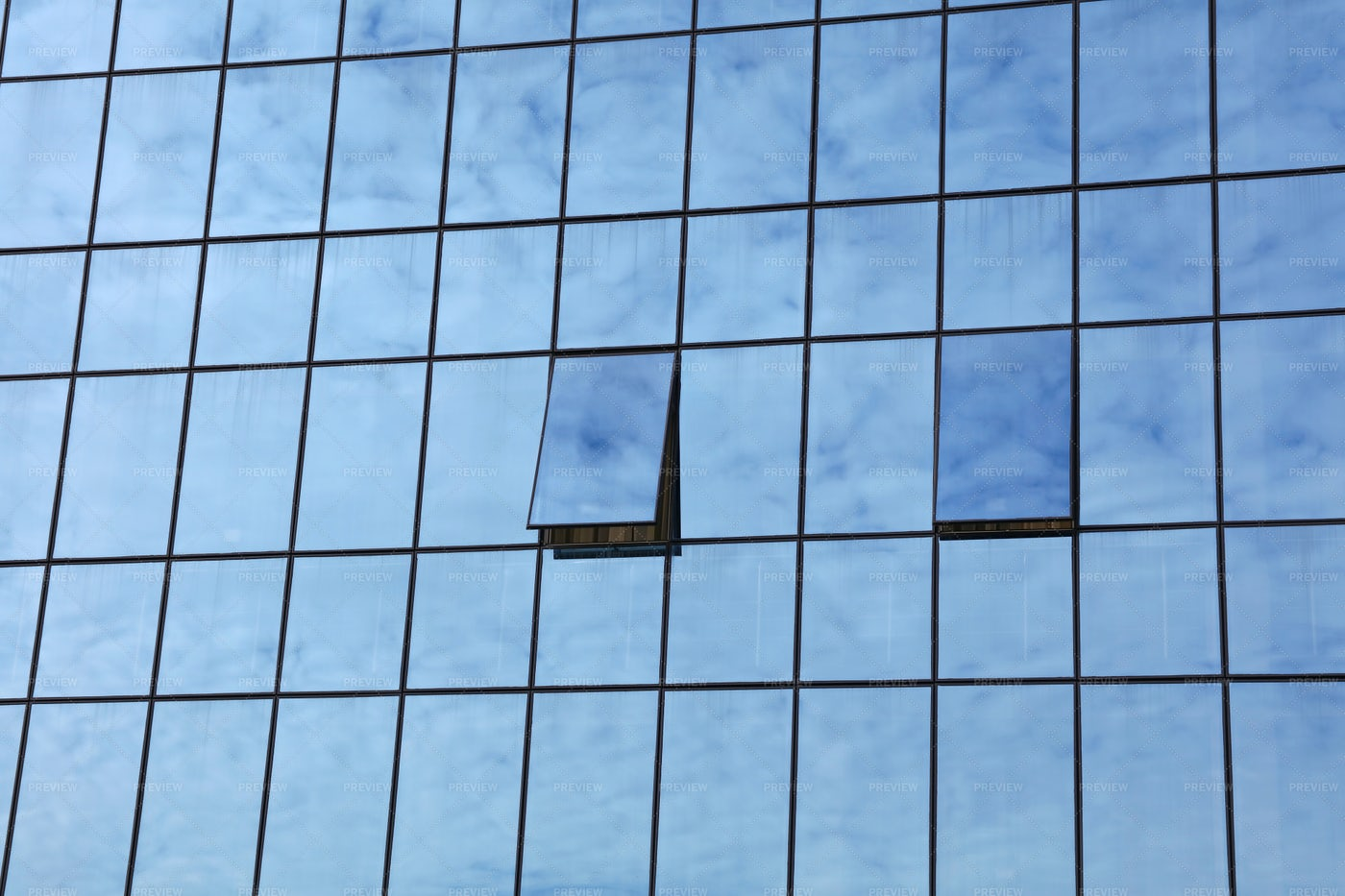 Office Glass Reflections: Stock Photos
