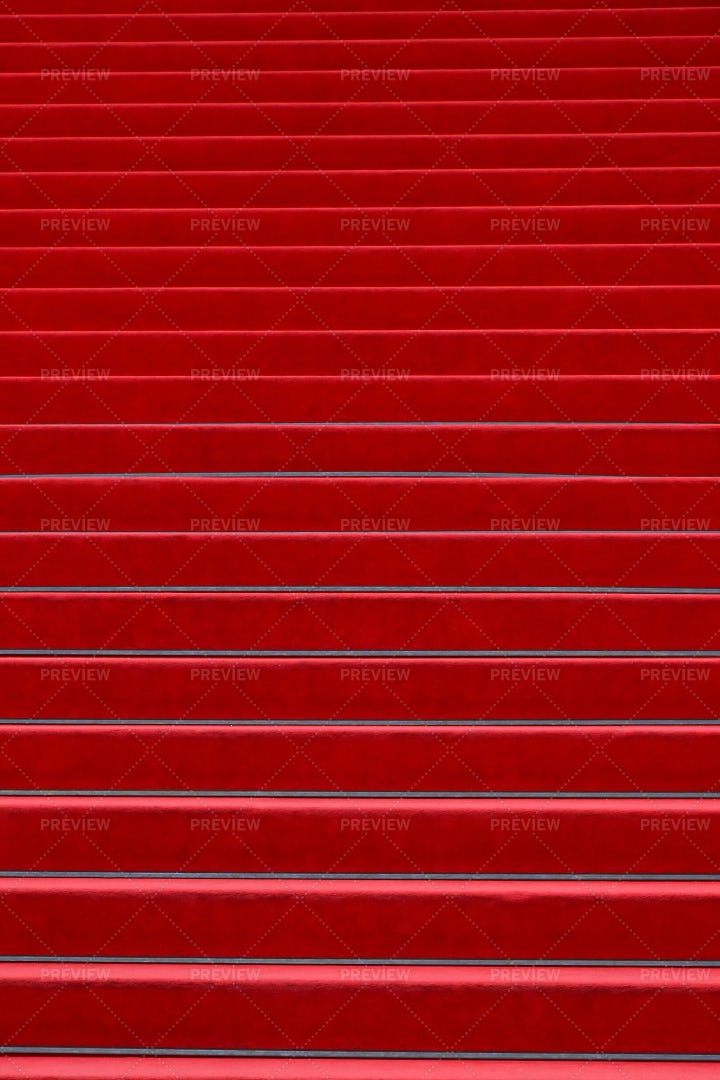 Red Carpeted Stairs: Stock Photos