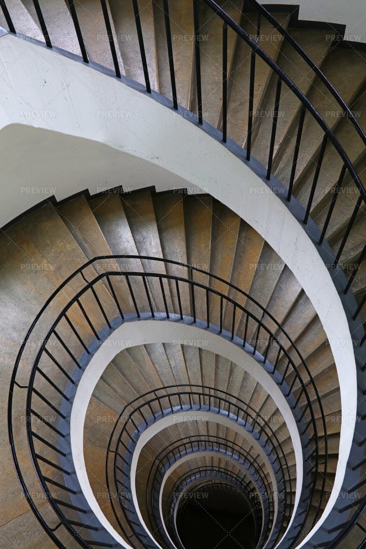 The Spiral Stairs: Stock Photos