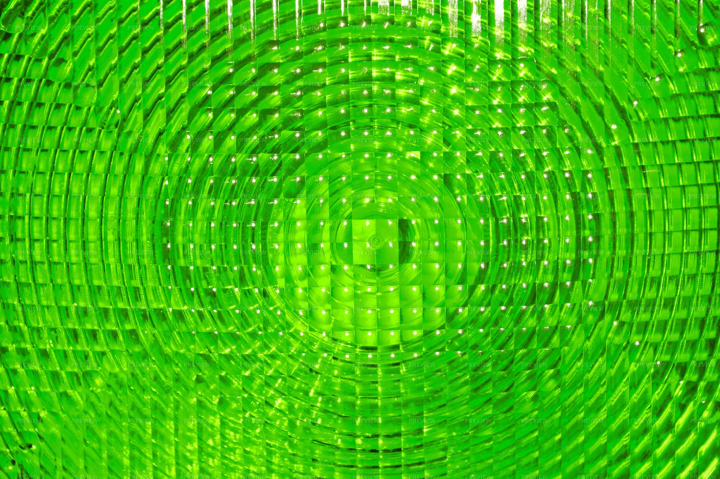Green Faceted Plastic: Stock Photos