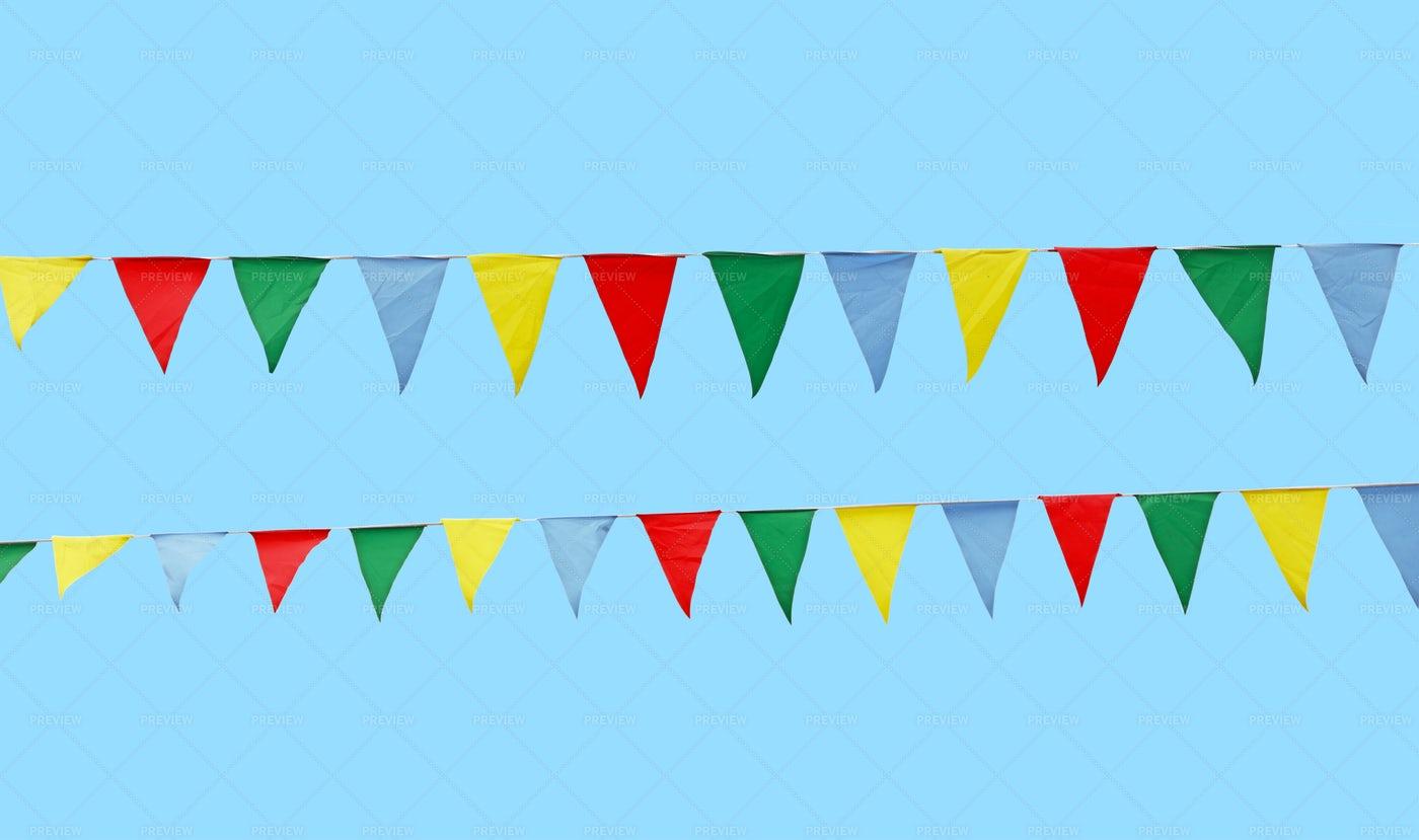 Multicolor Festive Flags: Stock Photos
