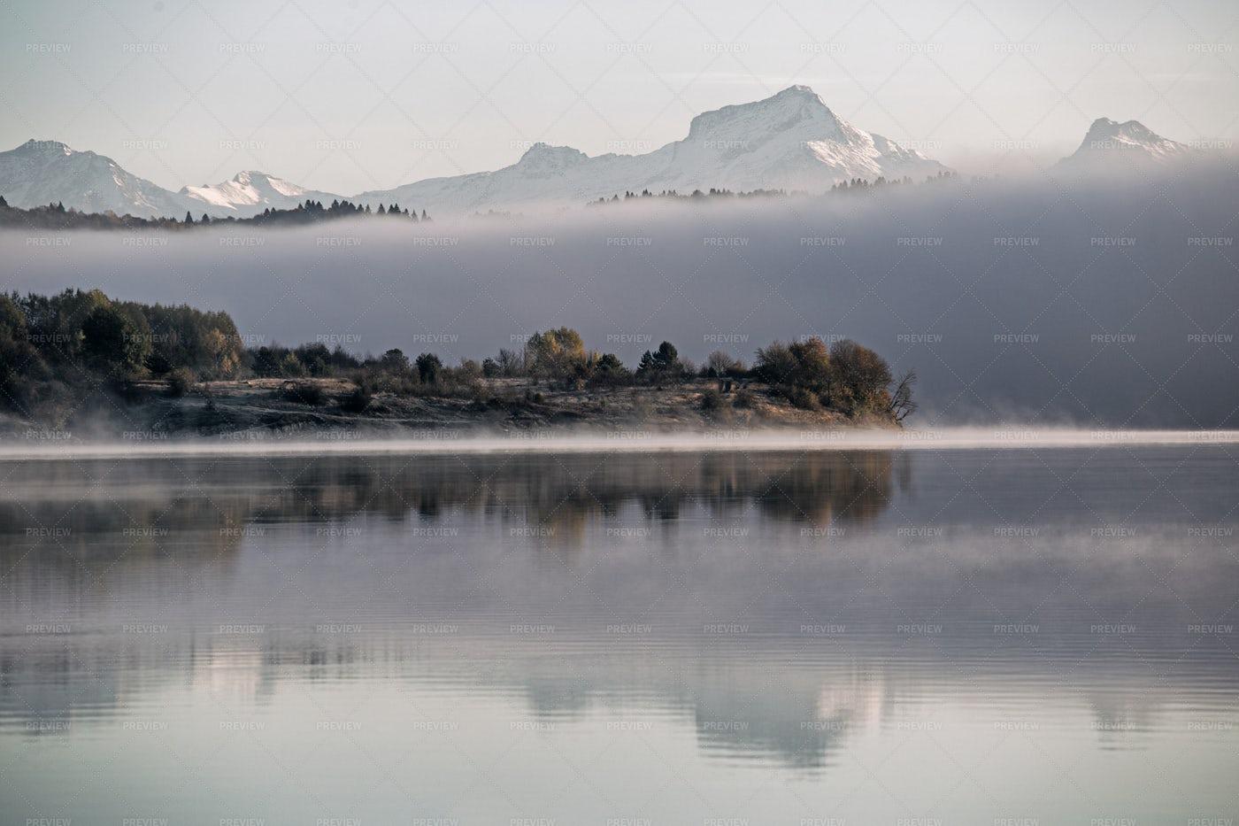 Misty Lake: Stock Photos