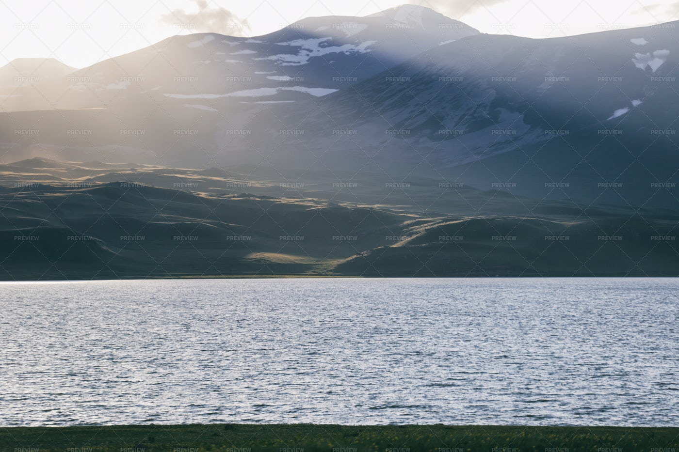 Sun Lights And Lake: Stock Photos