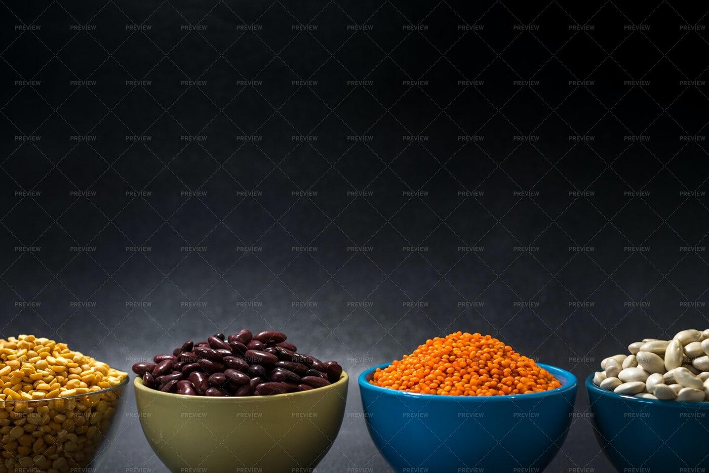 Grains In Bowls: Stock Photos