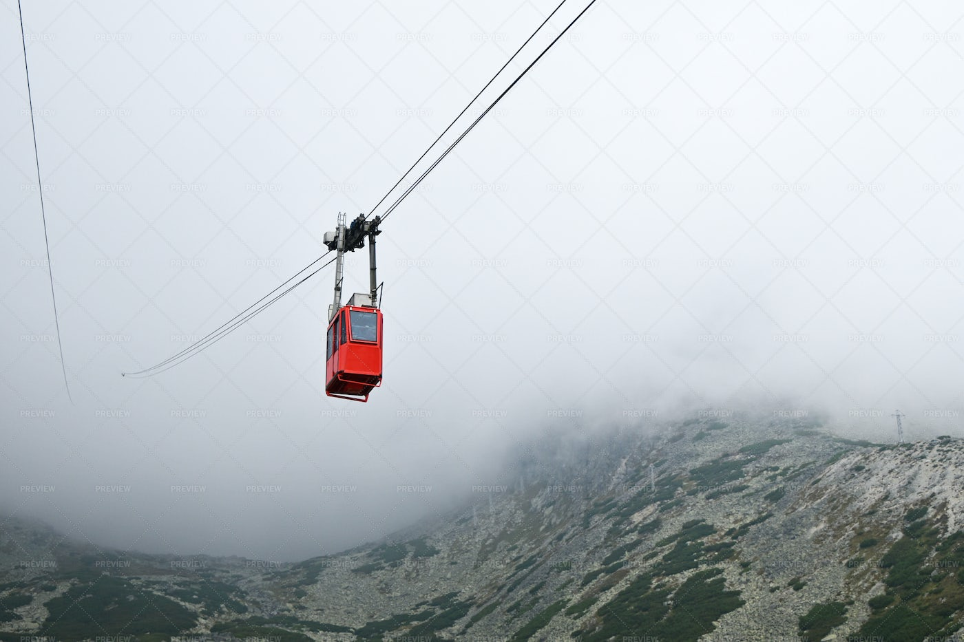 Cableway Car In Mountains: Stock Photos